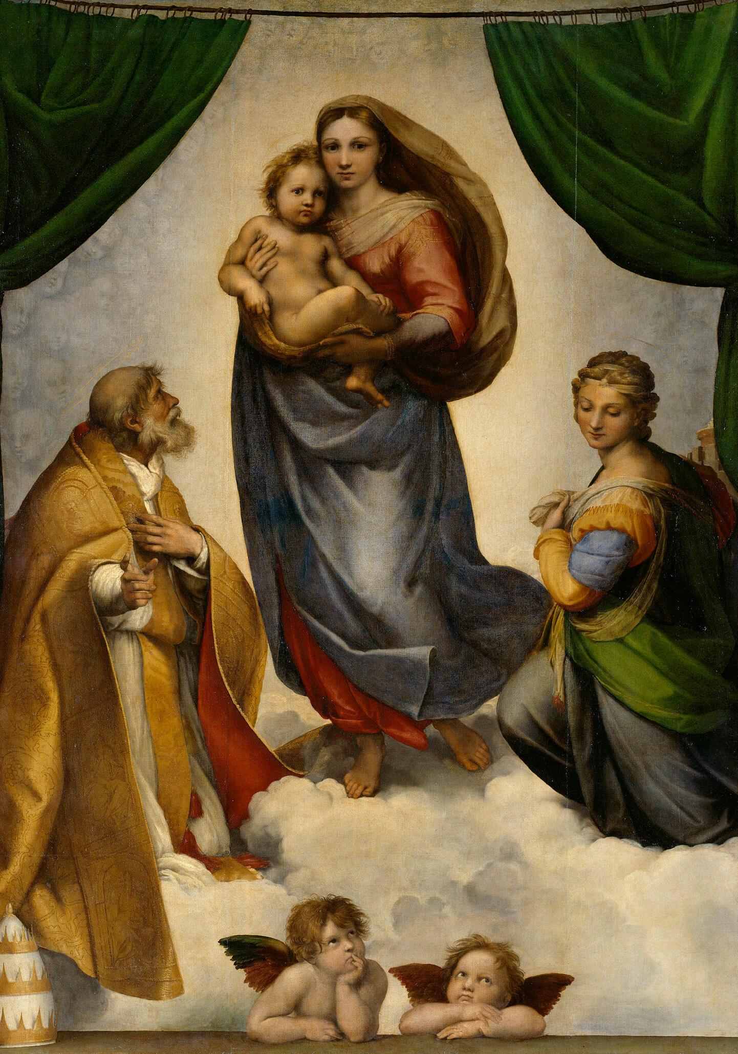 Berühmtes Bild aus der italienischen Renaissance - die Sixtinische Madonna